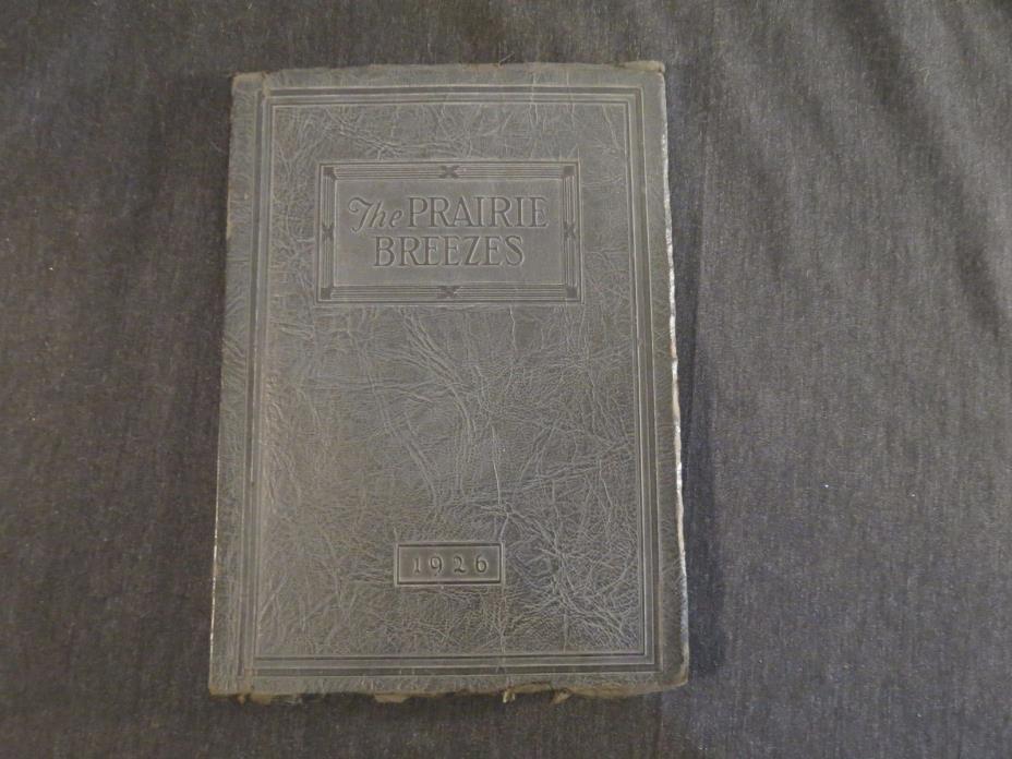 The Prairie Breezes 1926 Bismarck High School Year Book North Dakota