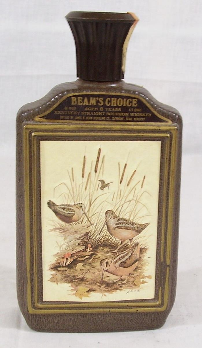 Beam's Choice Bourbon bottle with art by James Lockhart three birds