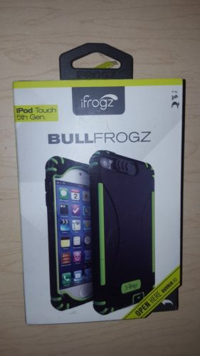 iFrogz Bullfrogz Hard Cover Case for iPod Touch 5th Generation __ Black/Green