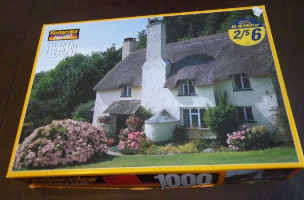 Kodacolor  1000 pieces : Selworthy Cottages, Somerset, England. Sold as is.