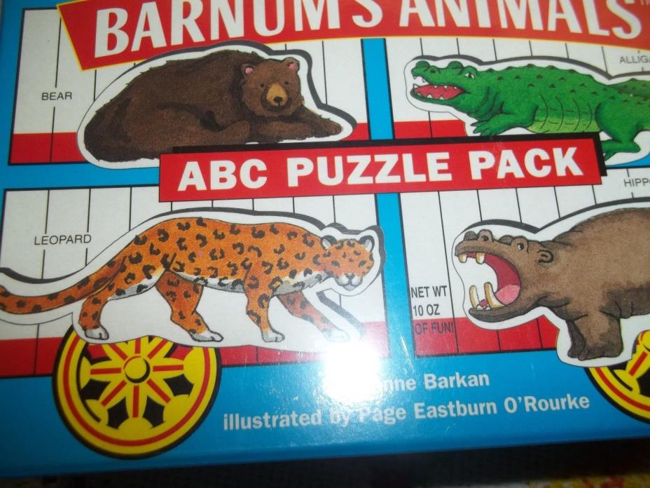 Barnum's Animals ABC Puzzle Pack NIP puzzle