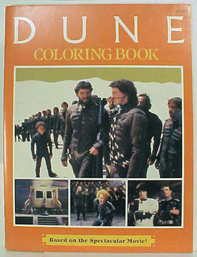 Vintage Paul Atreides Dune Coloring Book 1984 No Pages Colored Tight Binding