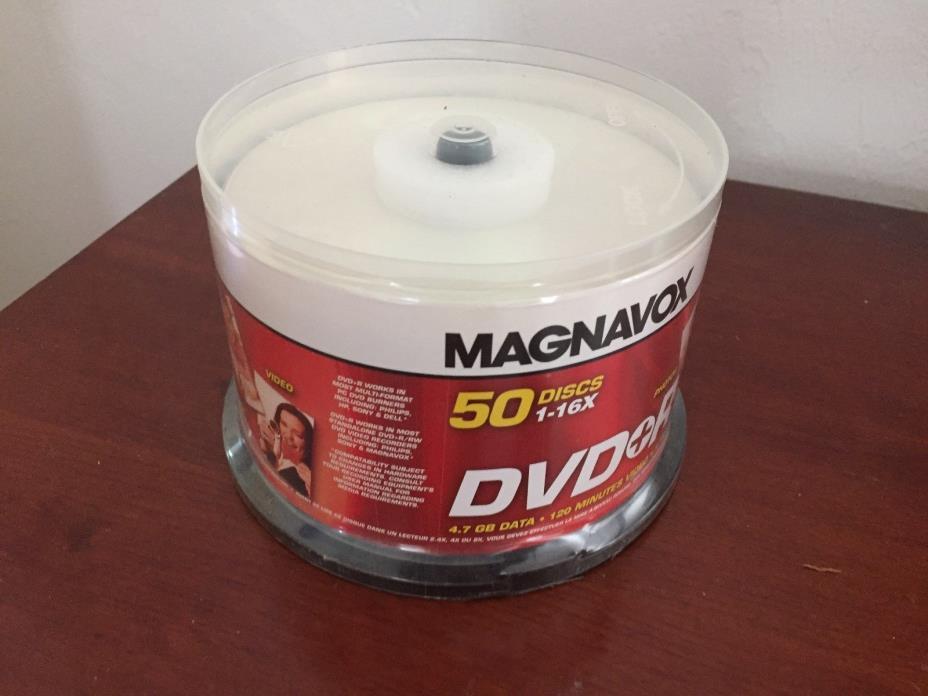 New Magnavox 50 Disc DVD + R