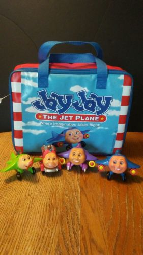 (1523)Jay Jay The Jet Plane  Carryall Case With Nine Compartments & 4 Characters
