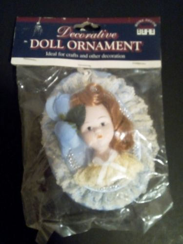 Porcelain Doll Face Christmas Tree Ornament