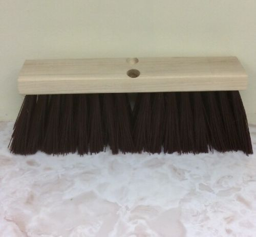 Magnolia Brush Manufacturers, Inc. Poly Push Street Broom Head Only, 16