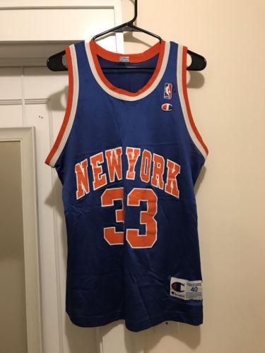 Vintage Patrick Ewing Champion Jersey 40 Medium