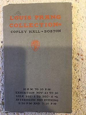 Louis Prang Collection Catalog 1899 Oil & Water Color Paintings at Copley Hall