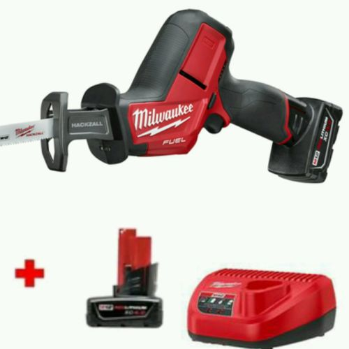 Milwaukee FUEL M12 Reciprocating Saw Kit 12V 2520-21XC + TWO 4.0XC batteries!!