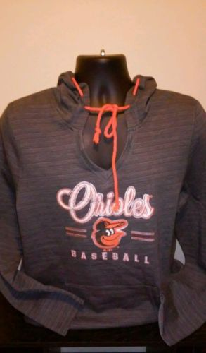 Baltimore Orioles Womens Pullover Hooded Sweatshirt