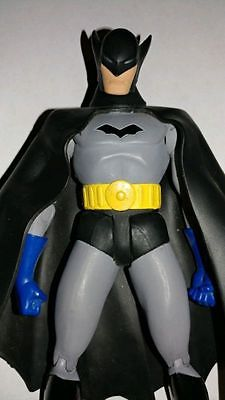 Very Rare Animated Batman Figure Non USA version Blue gloves black cape mask