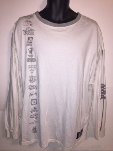 NBA Basketball Lounge Wear Long Sleeve Shirt 2XL