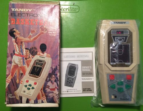 Tandy Electronic Basketball Radio Shack Handheld
