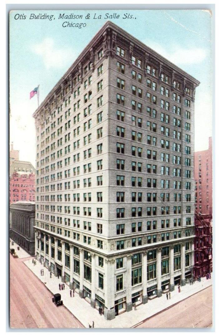 Early 1900s Otis Building, Madison and LaSalle Streets, Chicago, IL Postcard