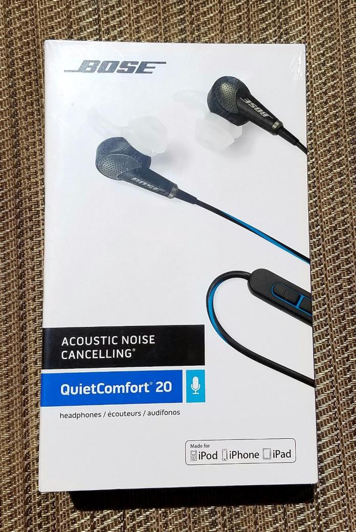 Bose QuietComfort 20 QC20 Headphones Earbuds for iOS - Black *NEW*