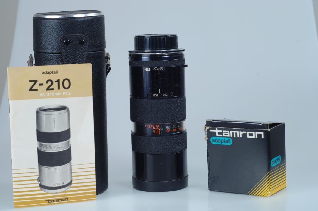Tamron Zoom Lens 85-210mm f4.5 AdaptAll Nikon Non-Ai