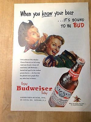 Budweiser Beer Magazine Ad - When You Know Beer