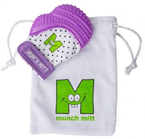 Malarkey Kids Munch Mitt, Purple Shimmer, One Size