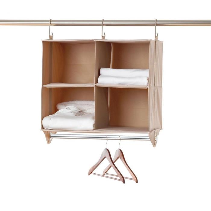 Neatfreak Cubby Organizer, 4 Shelves with Hanging Bar