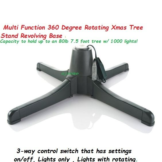 Multi Function 360 Degree Rotating Christmas Tree Stand Revolving Base 7.5