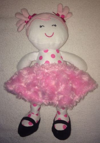 Baby Starters Baby Doll Plush Pink Pigtails Ballerina Swirl Tutu Pigtails 2014