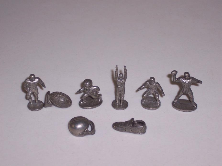 Monopoly NFL pewter tokens 1999 Football Iron Grid Collectors Edition game parts