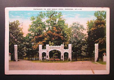 1936 Postcard ENTRANCE TO BOB NOBLE PARK Paducah, KY