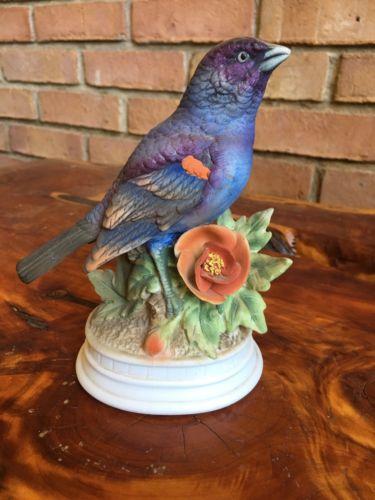 LOVELY NAPCO 7250 Limited Edition Blue GROSBEAK Bird Figurine Napcoware