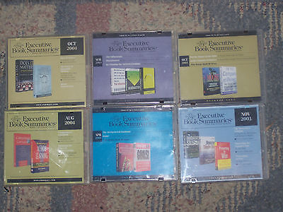 Executive Book Summaries audio book lot CD's Compassionate Capitalism Business