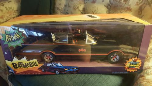 Mattel Batman Classic Car TV Series Batmobile Vehicle Collection Vintage Autos