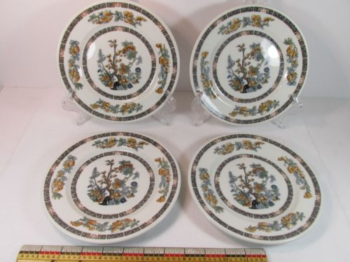 4 Lamberton Scammell  Indian Tree Salad Plates 7 3/4 inch