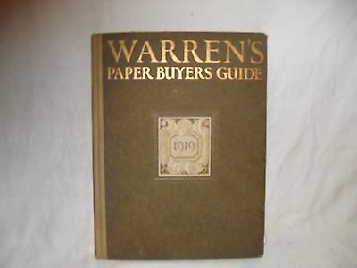 WARREN'S PAPER BUYERS GUIDE CA 1919