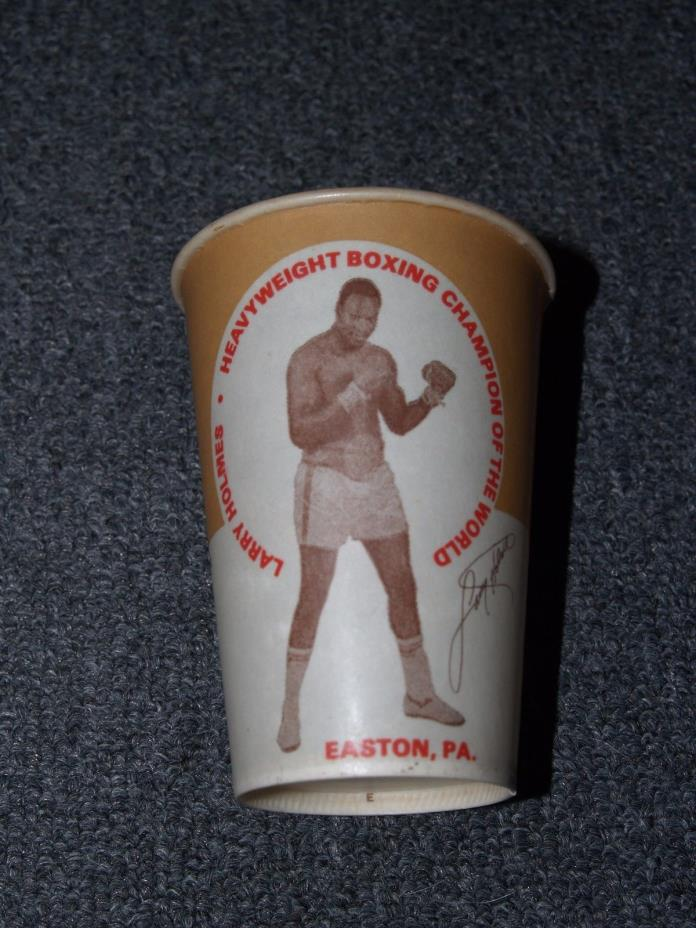 ca. 1970s LARRY HOLMES Boxing Cup Boxer Easton, PA