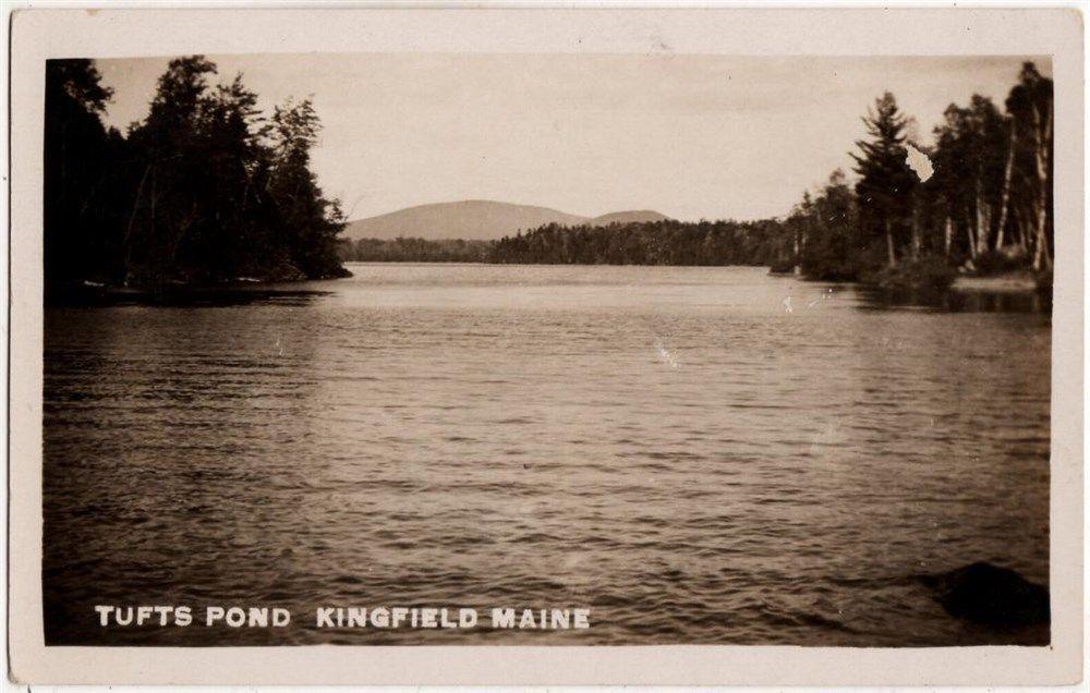 Kingfield, ME - RPPC - Tufts Pond - Poland Springs