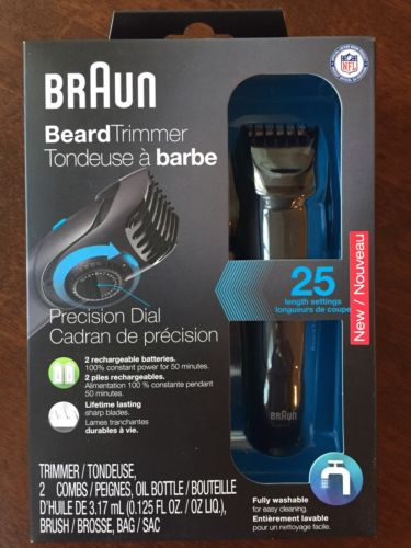 Braun Beard Trimmer BT5050 Black 6 Piece Washable Sealed