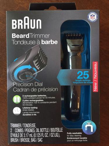 Braun Beard Trimmer BT5050 Black 6 Piece Washable Sealed