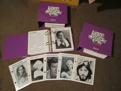 Hollywood Movie Star Encyclopedia biography cards in 3 matching 3-ring binders