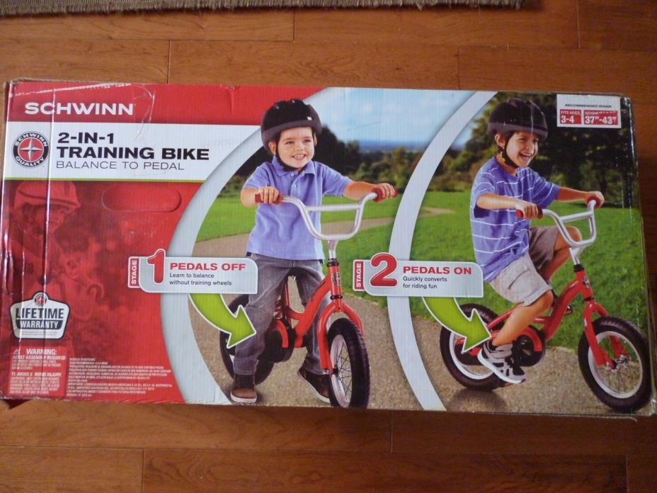 Brand new Schwinn kids 2 in 1 Balance Bike and pedals attched 12-Inch,