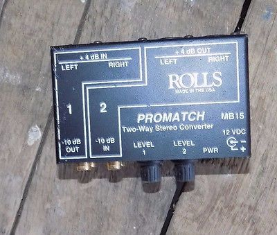 Rolls MB15 Promatch Two-Way Stereo Converter