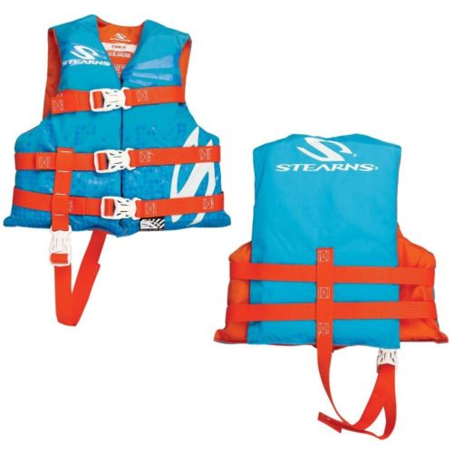 Stearns Child Classic Nylon Vest Life Jacket - 30-50lbs - Abstract Wave [3000002