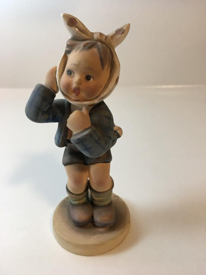 M. I. Hummel Girl with Bandana Figurine - Perfect Condition