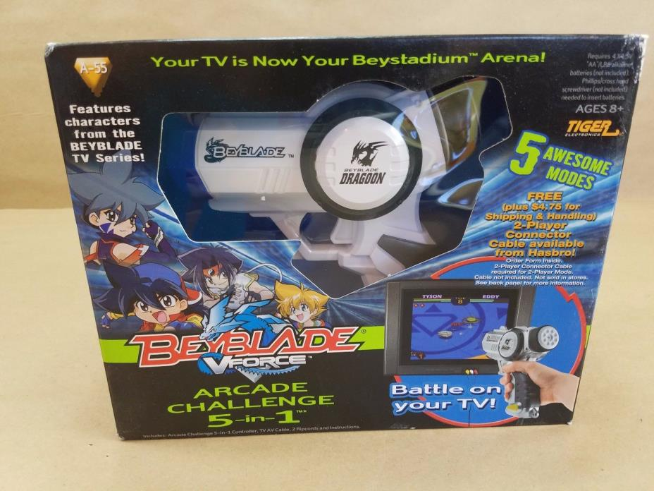 Beyblade VForce 5-in-1 Arcade Challenge Dragoon Battle on Your TV - FAST SHIP