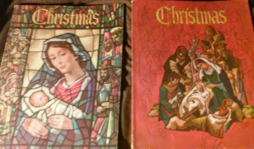 VINTAGE LOT 2 LARGE AMERICAN ANNUAL OF CHRISTMAS LITERTURE AND ART 1964 1969