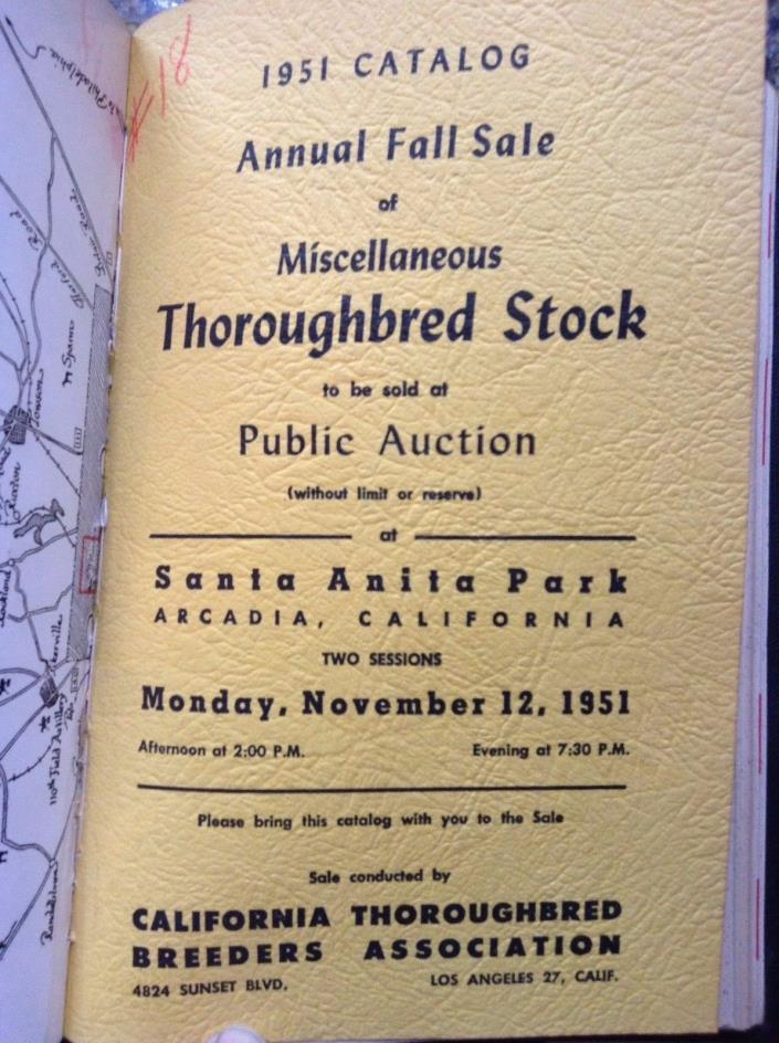 1951-1953 Antique Thoroughbreed Race Horse Auction Catalogs lot of 5