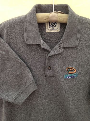 Arizona Diamondbacks LEE SPORT MLB Golf Polo Shirt Men's Size M Medium Gray