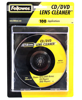 Fellowes CD/DVD Lens Cleaner Disc Drive Micro-Thin Fibers