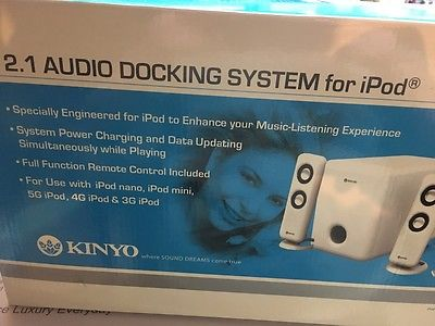 Kinyo DS-122 iPod Audio Docking Station with 2.1 Speaker System w/Subwoofer