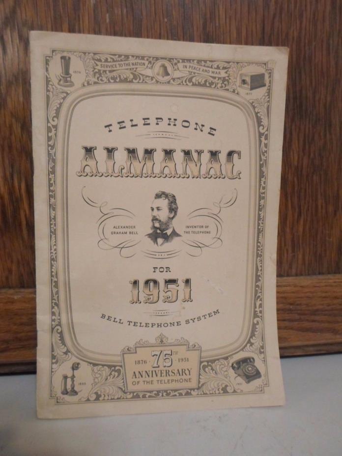 Vintage 1951 Telephone Almanac