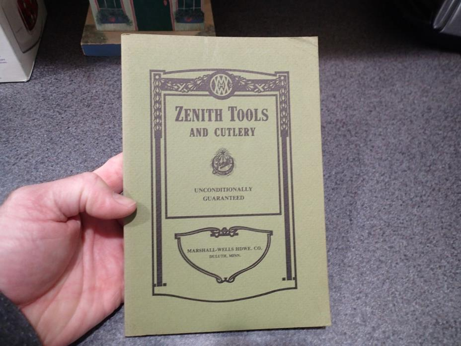 1910 Zenith Tool Company Catalog Reprint 1987 Great Reference