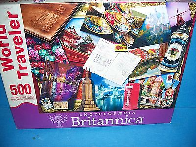 Springbok 2011 Puzzle Encyclopedia Britannica World Traveler 500 Pieces Complete